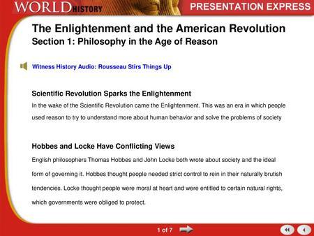 The Enlightenment Mr  Zywicki and Mr  Chmiel MHS WORLD STUDIES