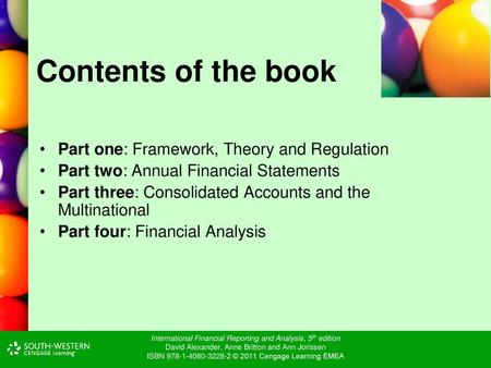 International Financial Reporting And Analysis 5 Th Edition David Alexander Anne Britton And Ann Jorissen Isbn C 2011 Cengage Learning Ppt Download