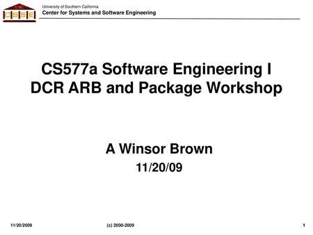 CS 577b: Software Engineering II - ppt download