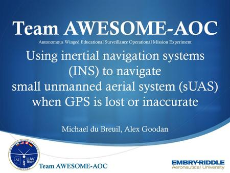 Using inertial navigation systems (INS) to navigate