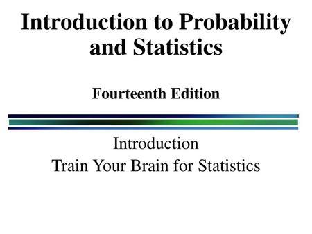 MATB344 Applied Statistics - ppt download
