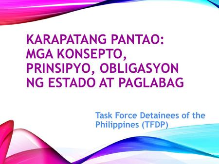 Task Force Detainees of the Philippines (TFDP)