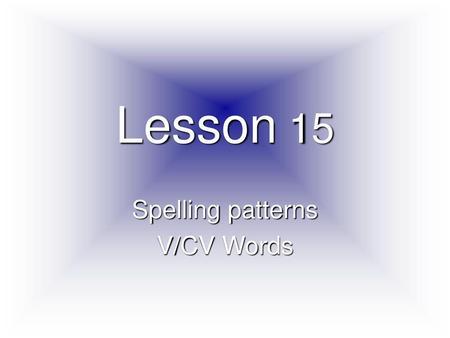 VOCABULARY LIST WEEK # 2 1 alacrity n  Promptness