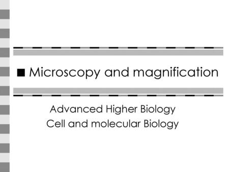 Microscopy and Magnification - ppt video online download