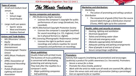 Commercial Music Careers - ppt video online download