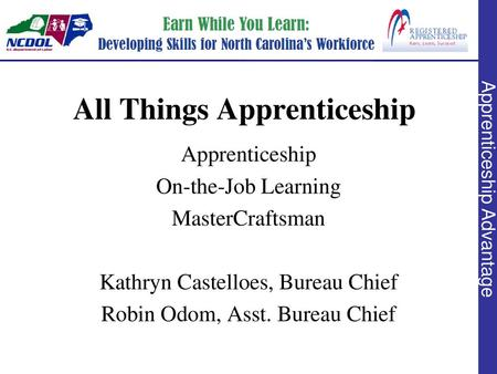 Apprenticeship Defined Benefits of Apprenticeship Choosing