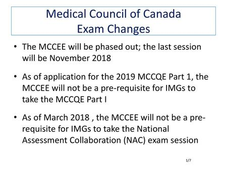 Back to Basics Review for the MCCQE part 1 Examination
