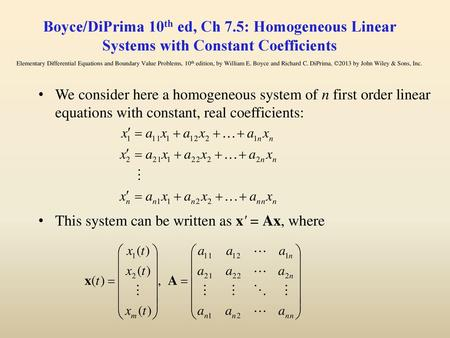 Ch 7 9: Nonhomogeneous Linear Systems - ppt download