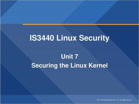 CIS Lesson 13 Linux Kernel  Architecture Dependent Kernel Code