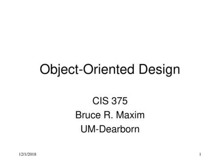 Unit Testing In The Oo Context Chapter 19 Roger P Ppt Video Online Download