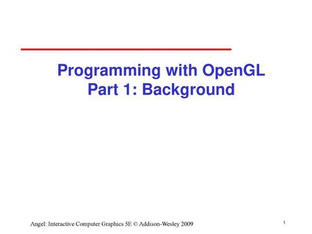 Introduction to Computer Graphics with WebGL - ppt download
