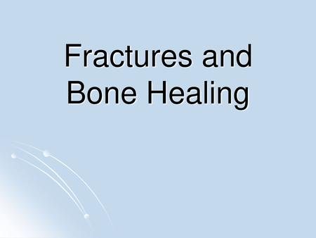 Fracture History Osce