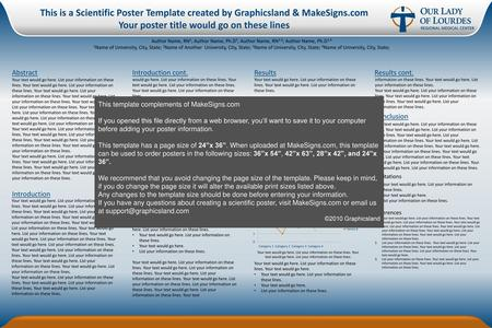 This is a Scientific Poster Template created by Graphicsland