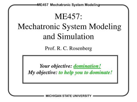 Mechatronic Systems, Modelling And Simulation With HDLs