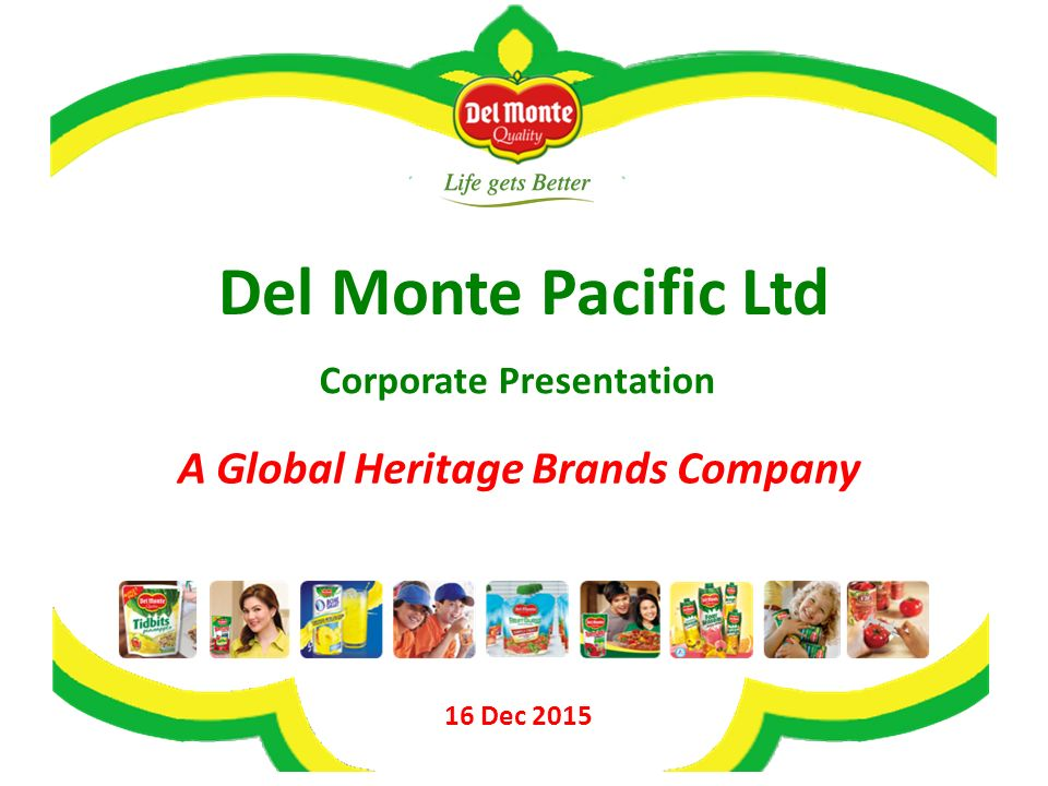 Corporate Presentation A Global Heritage Brands Company - ppt video online  download