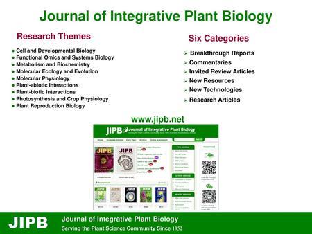 Journal of Integrative Plant Biology - ppt video online download