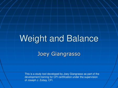 Weight and Balance  - ppt video online download