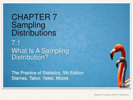 Chapter 7 Sampling Distributions Ppt Download