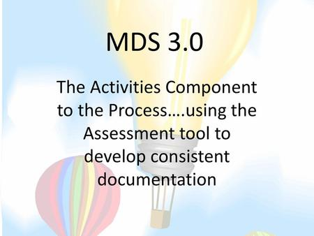 MDS 3 0 Tracking And Trending FY Ppt Download