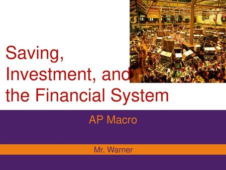 saving investment and the financial system test 20