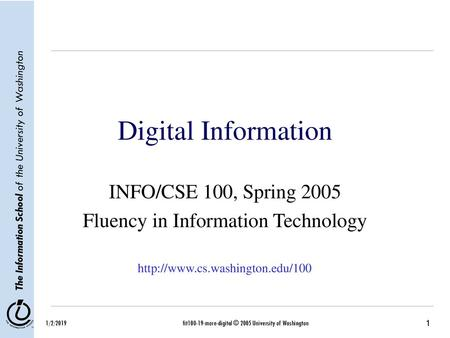 Computer Science 101 Picture Files  Computer Representation