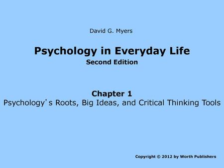 Psychology In Everyday Life Ppt Download