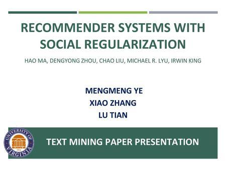 Item Based Collaborative Filtering Recommendation Algorithms - ppt