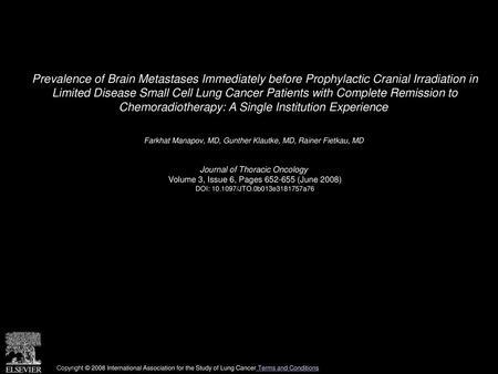 Radiation Necrosis Mimicking Progressive Brain Metastasis in