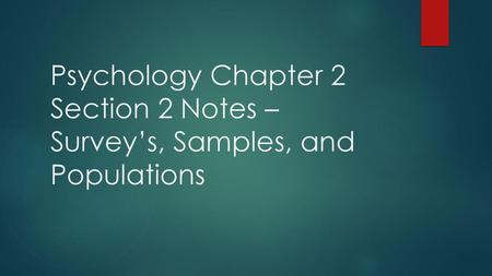 Psychology Notes Chapter 2