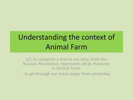 ANIMAL FARM – QUOTES, THEMES, AND DISCUSSION QUESTIONS