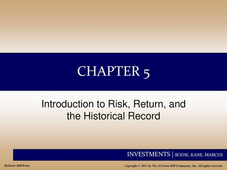 Risk And Return 1 Class 9 Financial Management Ppt Download