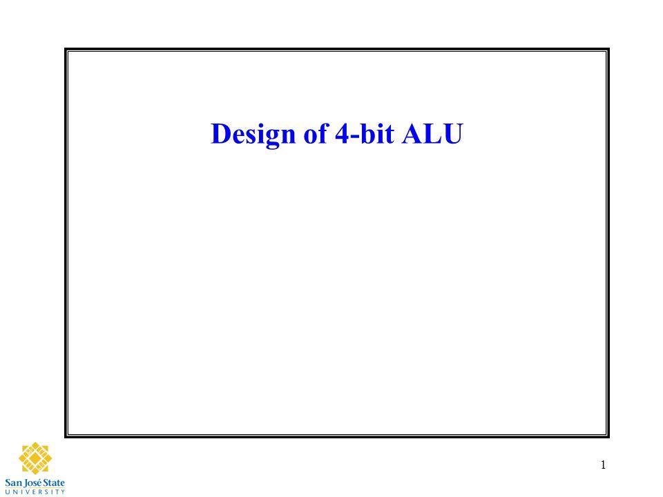 Design Of 4 Bit Alu Ppt Video Online Download