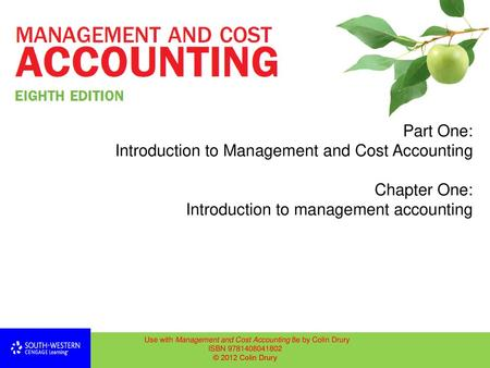 Management and Cost Accounting, 6 th edition, ISBN © 2004