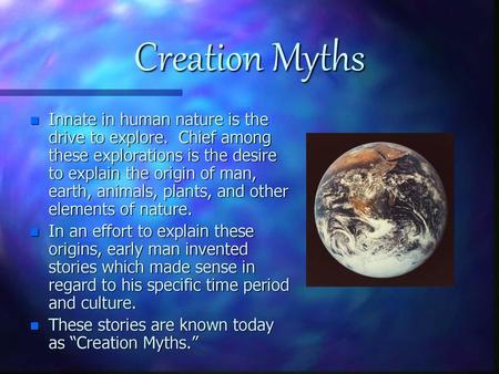 The Navajo Creation Myth Ppt Download