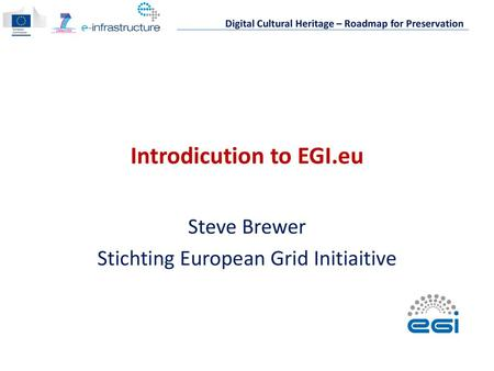European Grid Infrastructure for Life Science - ppt download