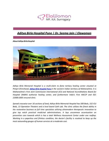 Sunrise Hospital IUI IVF Clinic Dr  Shalini Jain Nawal