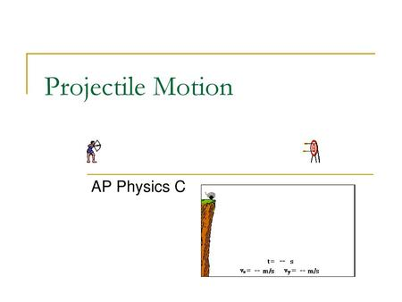 Projectile Motion Level 1 Physics  - ppt video online download