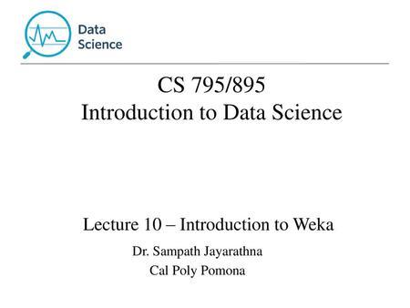 A Short Introduction to Weka Natural Language Processing