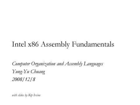 Introduction to Assembly Language - ppt video online download