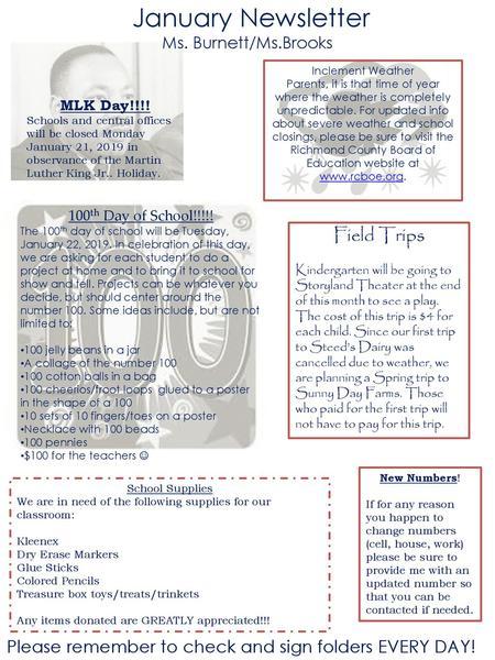 February Newsletter Ms  Burnett/Ms  Brooks - ppt download