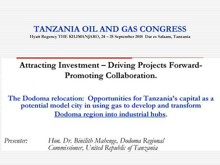 INTRODUCTION Tanzania Vision ppt download