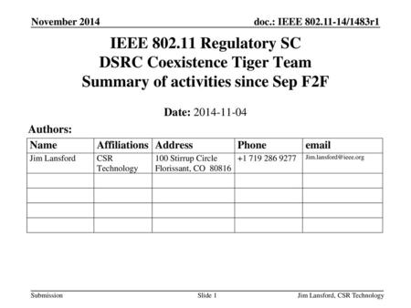 Doc : IEEE /0121r0 Submission GNURadio and WLAN research