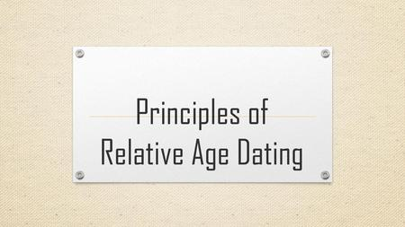 Relative age dating video about cats