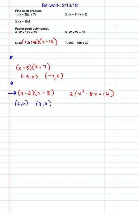 Solving Equations With Polynomials – Part 2. N² -7n -30 = 0 ( )( )n N 1 ·  30 2 · 15 3 · 10 5 · N + 3 = 0 N – 10 = N = -3n = 10 = - Ppt Download