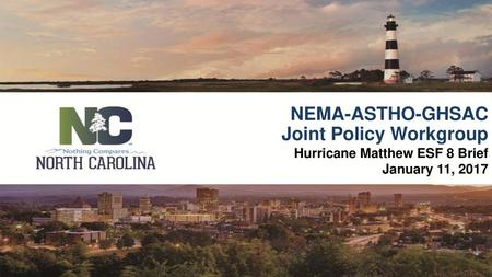 North Carolina Emergency Management Emergency Services - ppt