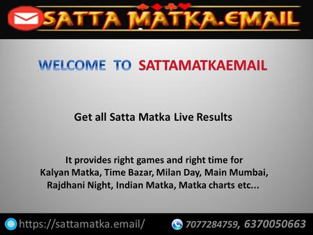 You Know How to Play Satta Matka Online? - ppt download
