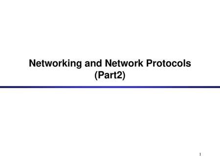 Linux TCP/IP Stack  - ppt download