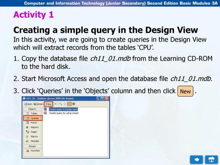 Querying a Database Using the Select Query Window - ppt video online