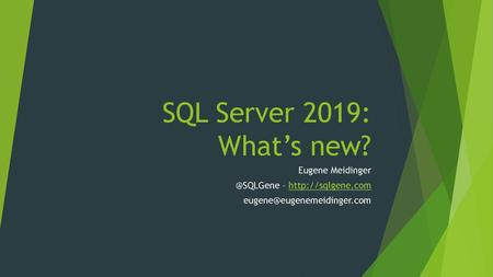 SQL Server Express Scott Baldwin Associate Consultant