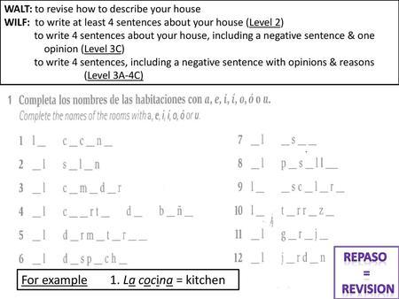 Comment est ta maison? Level 1 Level 2 Level ppt video online download
